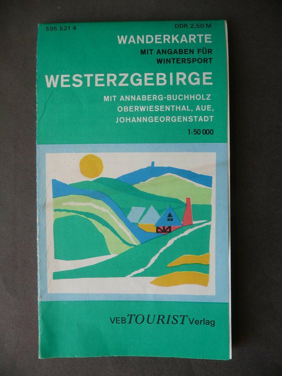 Landkarte Wanderkarte Westerzgebirge Schwarzenberg Aue Annaberg DDR 1977 0