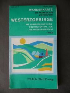 Landkarte Wanderkarte Westerzgebirge Schwarzenberg Aue Annaberg DDR 1977