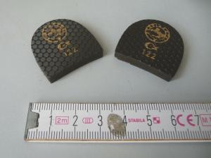Paar Polsterflecke Absatzflecke Größe 122 3 x 3 cm Schusterbedarf