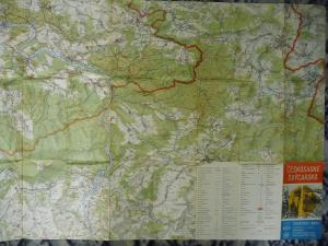 Landkarte Wanderkarte Böhmische Schweiz Decin Tetschen Bad Schandau Rumburg 1982