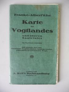 Landkarte Franke/Albert Vogtland Oberes Saaletal ca. 1915