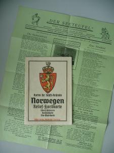 Norwegen-Karte für Schiffsreisende / Urlauberblatt
