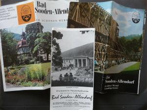 Konvolut Reiseprospekte + 7 Postkarten Bad Sooden-Allendorf ca. 1970