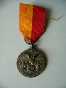 Abzeichen Medaille Dragoes de Olivenca Portugal am Band