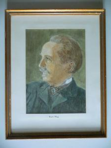 Orig. Zeichnung Porträt Karl May