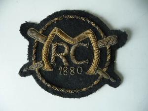 Ärmelabzeichen Stoffabzeichen Badge MRC / RC 1880 Militär Ruderklub ?