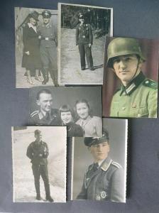 6 x Orig. Foto Soldat Flieger Auszeichnungen Orden Schützenschnur Montur