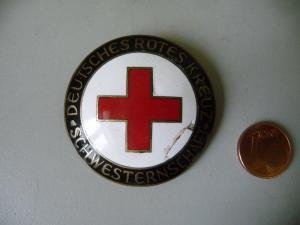 Abzeichen Dienstbrosche Rotes Kreuz Schwesternschaft Frankfurt / Klein u.Quenzer