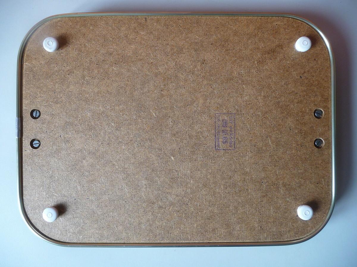 Tablett Serviertablett mit Holzoptik / DDR PGH Klingenthal 2