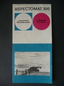 Reklameprospekt Aspectomat 300 Kleinbildprojektor Pentacon 1964