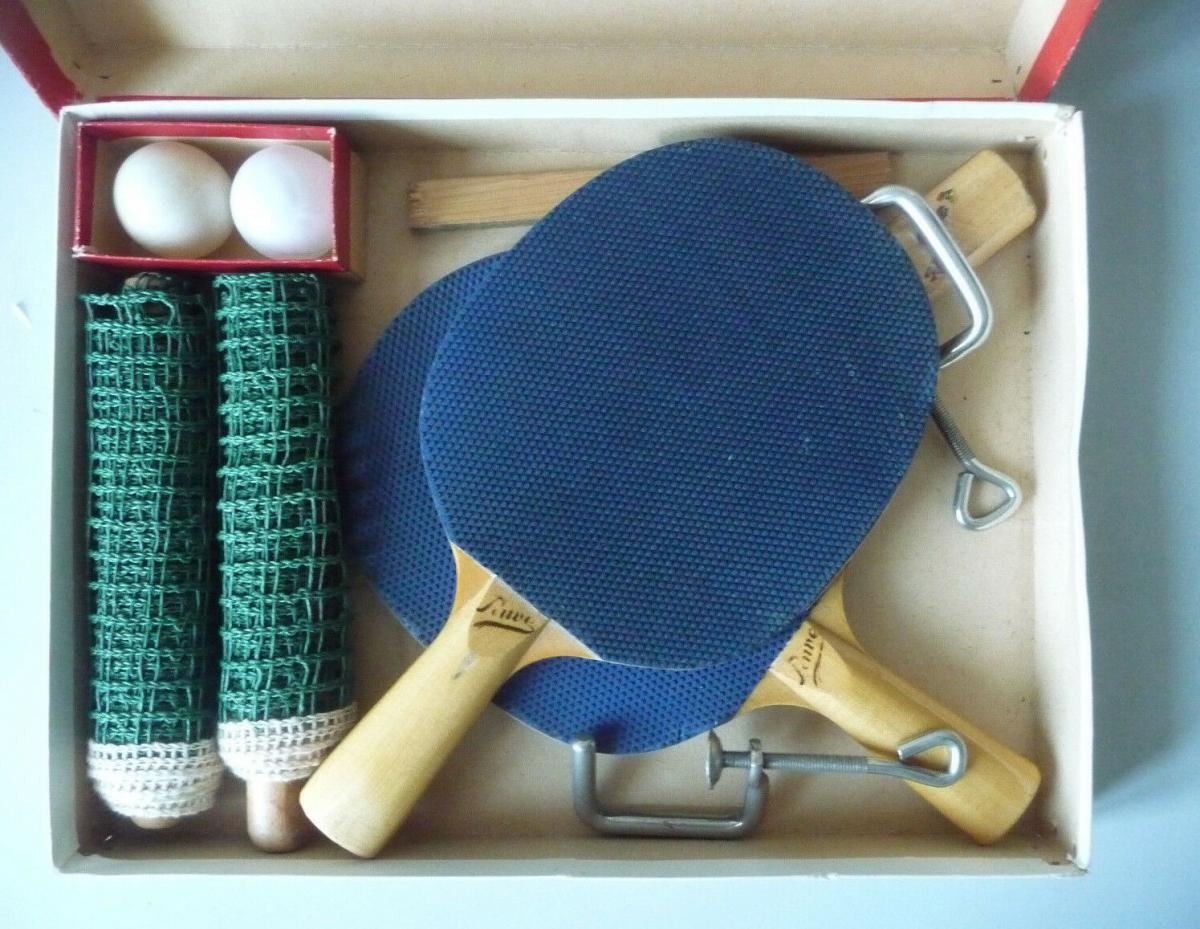 Tischtennis-Set Pawe DDR Netz Schläger Bälle 0