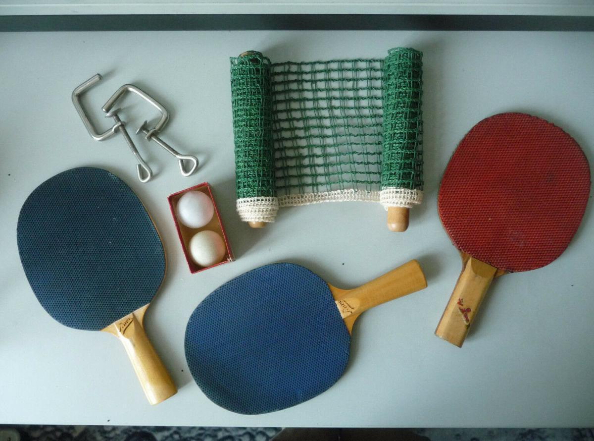 Tischtennis-Set Pawe DDR Netz Schläger Bälle 1