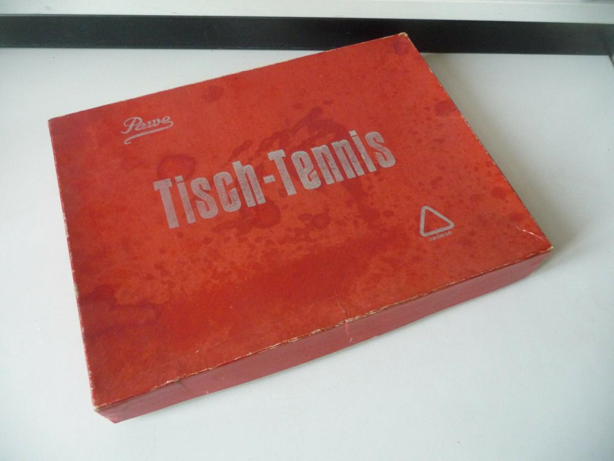 Tischtennis-Set Pawe DDR Netz Schläger Bälle 2