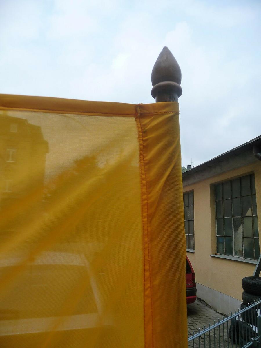 Große DDR Fahne Staatswappen schwarz rot gold mit Fahnenstange 2