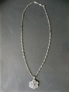 Halskette mit Anhänger Silber 835