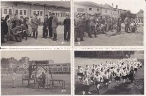 4 Orig. Fotos Soldaten beim Sportfest Waldlauf 1937