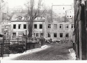 Orig. Foto Plauen Vogtland Mühlstraße Abbruch Häuser ca. 1970