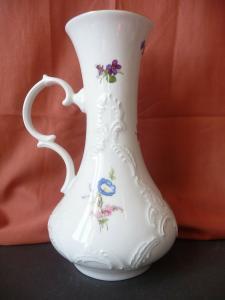 Tolle Blumenvase mit Henkel / Royal Bavaria KPM Porzellan