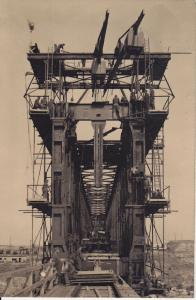 Orig. Foto Brückenbau Ukraine Eisenbahnpioniere 1943