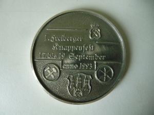 Medaille Freiberg Sachsen Knappenfest 1993 / Alte Elisabeth