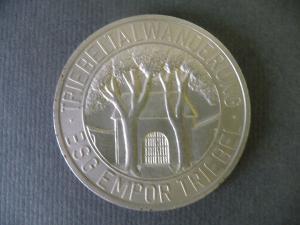 Medaille DWBO / BSG Empor Triebel Vogtland / Triebeltalwanderung ca. 1980