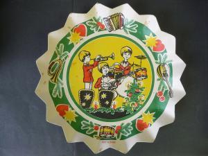 Weihnachtsteller Pappteller DDR Musik Kinder-Musikband Combo