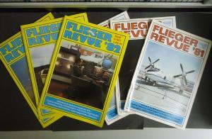 6 Ausgaben Fliegerrevue Monatszeitschrift GST DDR 1981/82