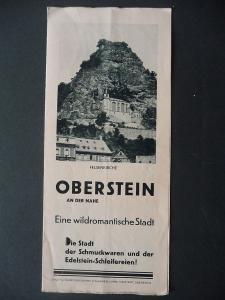 Reiseprospekt Oberstein / Idar-Oberstein ca. 1940