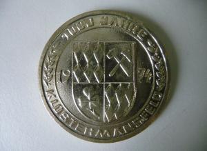 Medaille 1000 Jahre Klostermansfeld 1974