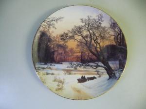 Sammelteller Zierteller Vinteraften / Vilhelm Kyhn / Grande Kobenhavn Porzellan