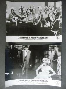 2 x Filmfoto Aushangfoto Ganz Paris träumt von der Liebe Can-Can