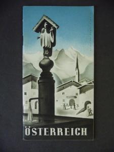 Reiseprospekt Heft Tourismus Österreich ca. 1936