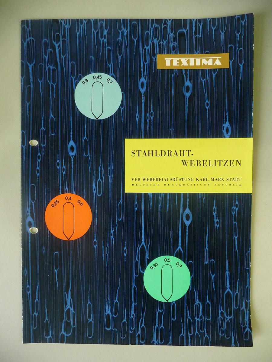 Reklame Prospekt Webelitzen / VEB Weberei-ausrüstung Textima DDR 1959 0