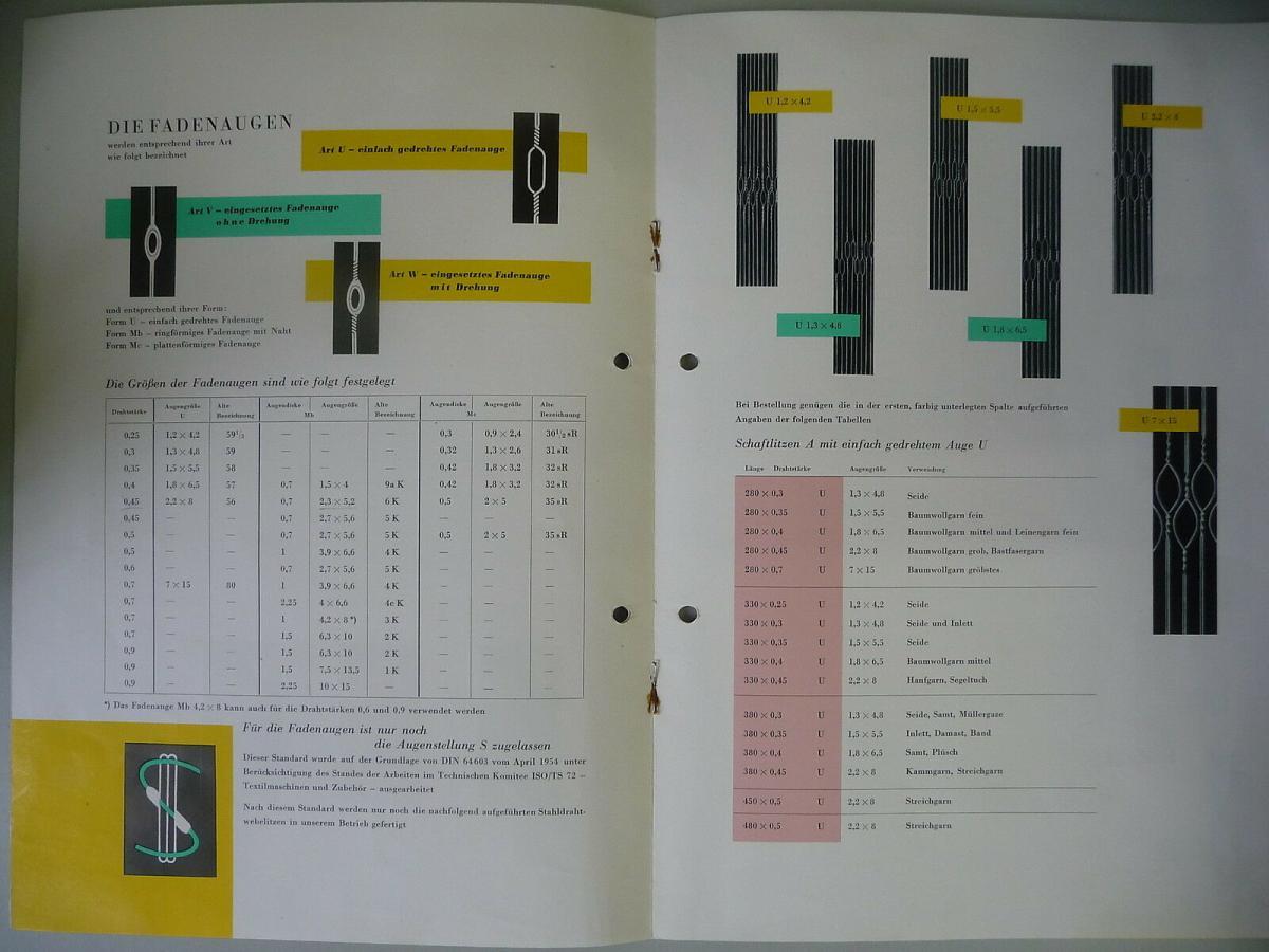 Reklame Prospekt Webelitzen / VEB Weberei-ausrüstung Textima DDR 1959 1