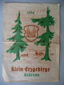 Faltblatt Führer Rundgang Klein-Erzgebirge Oederan 1964