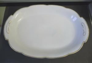 Große Servierplatte Platte aus Porzellan 45 cm!