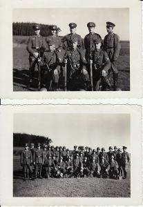 2 Orig. Fotos Soldaten Gruppenbild Exerzierplatz 1936