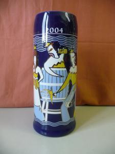 Bierkrug Jahreskrug Brauerei Scherdel Hof Saale 2004