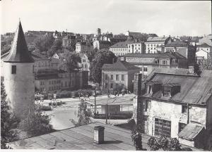 Orig. Foto Plauen Vogtland Tunnel Nonnenturm Theater ca. 1970