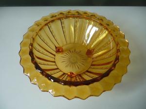 Glasschale Obstschale Schüssel honiggelb bernsteinfarben