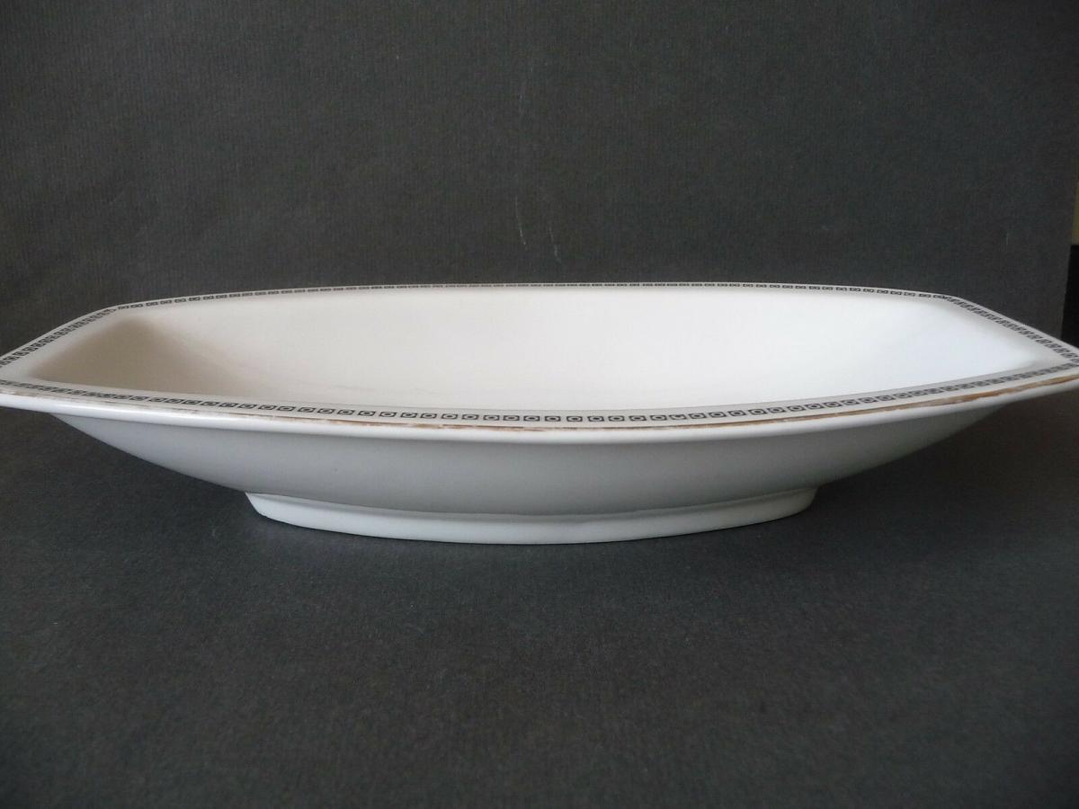 Schale Zierrand weiß schwarz gold / Rosenthal Porzellan 1