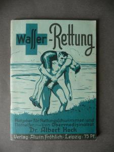 Broschüre Heft Albert Heck: Wasserrettung 1940