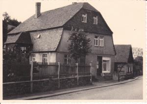 Orig. Foto Gebäude Haus Bäckerei Konditorei Laden Sachsen ? ca. 1940/50
