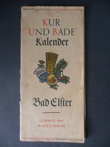Kur- und Badekalender Bad Elster 1941/42