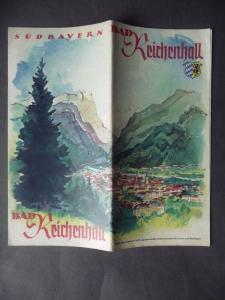 Reiseprospekt Reklame Tourismus Bad Reichenhall Bayern ca. 1936