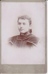 Original-Foto Kabinettkarte CDV Junge Frau Porträt / Snook Akron Ohio ca. 1900