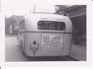 Orig. Foto Bus Autobus Reisebus Rückansicht  Reichenbach Vogtl. 1939