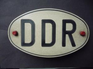 Orig. Schild DDR Autokennzeichen Länderkennzeichen