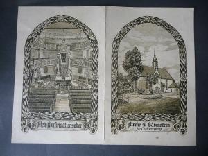 Konfirmationsschein Bärenstein Erzgebirge Erlöserkirche 1930