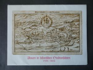 Mappe Plauen historische Stadtansichten 1598-1862